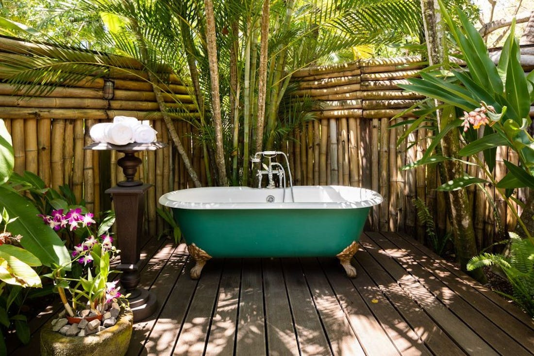 Ian Fleming Bath at Villa Goldeneye Jamaica