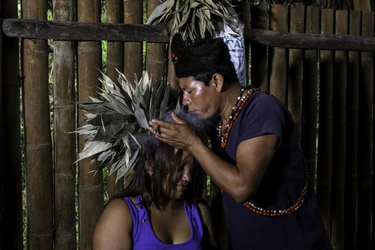 Amazon shaman at Napo