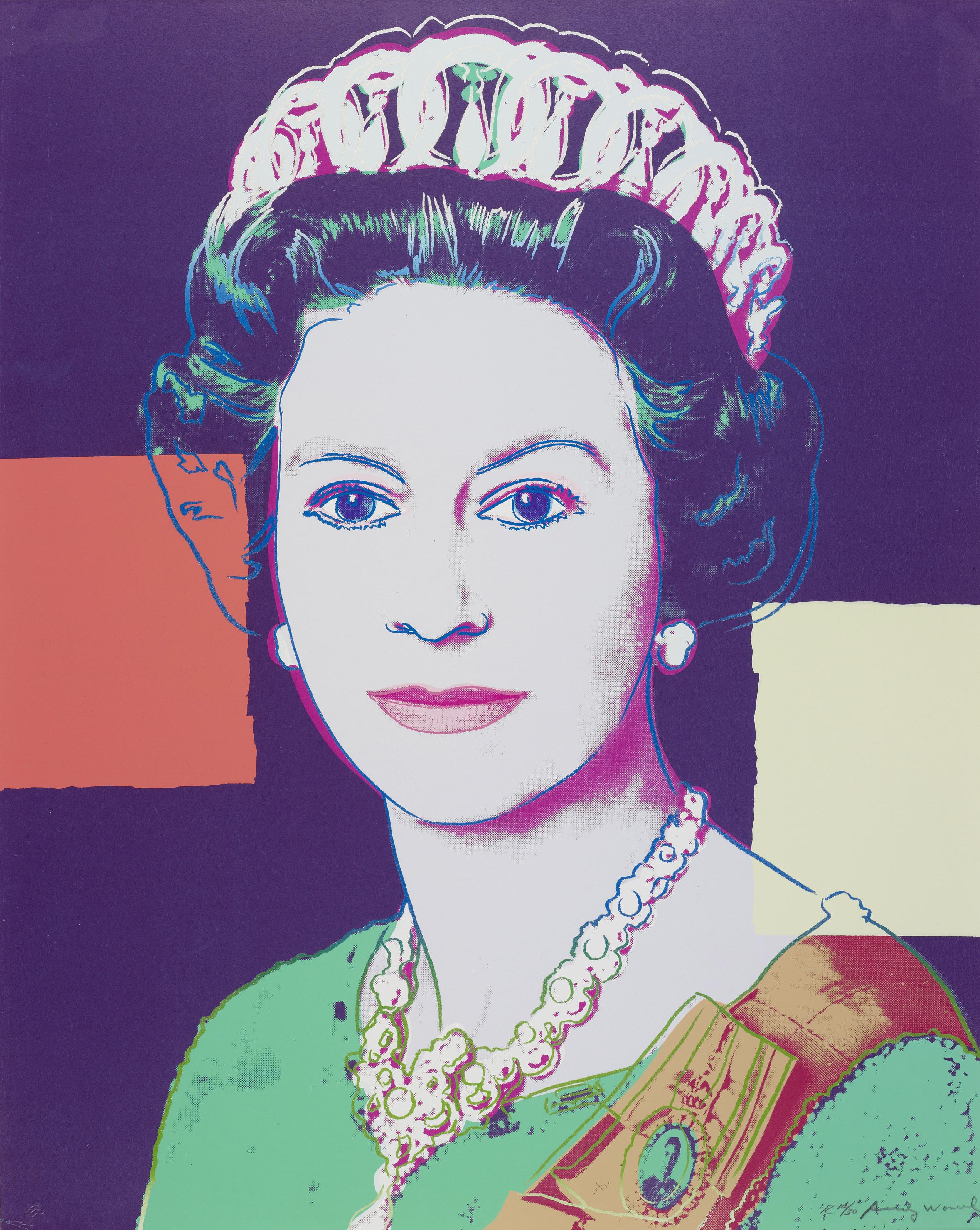 Andy Warhol, 1985 Queen Elizabeth II Queen Elizabeth II ©