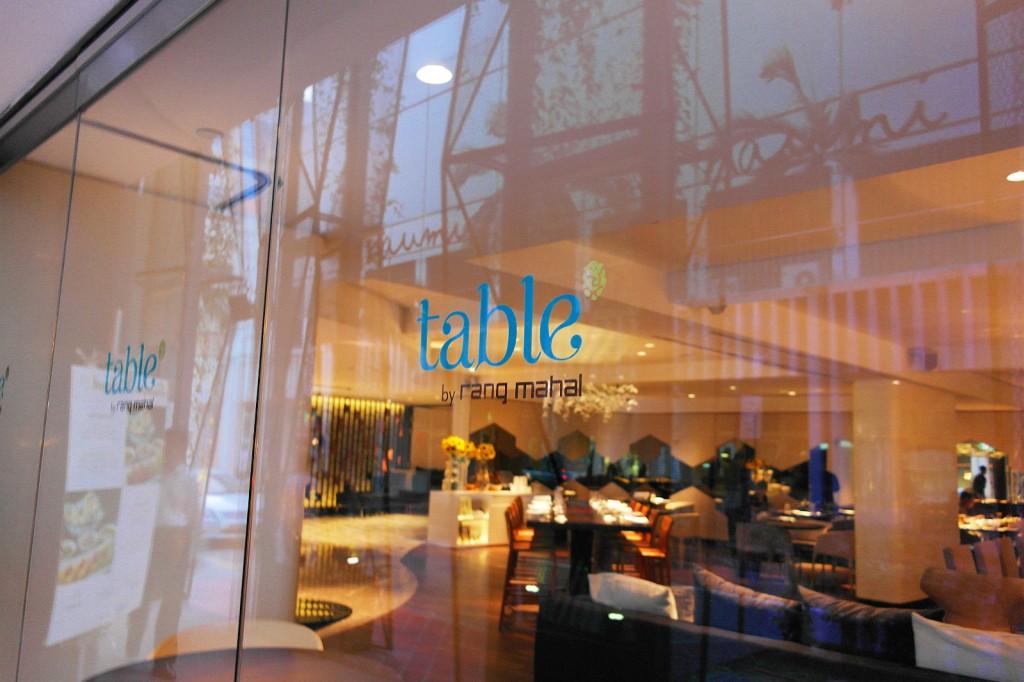 Table by Rang Mahal at Naumi Hotel - Singapore