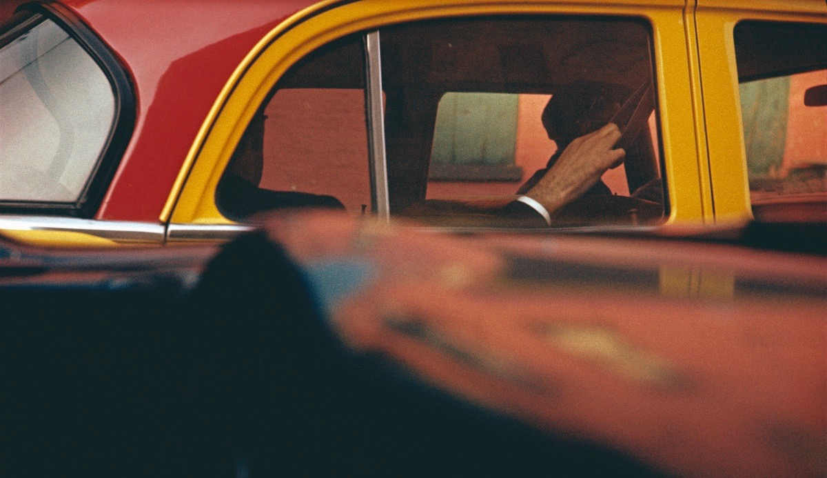Taxi, ca. 1957. Saul Leiter: Retrospective - The Photographers Gallery, London