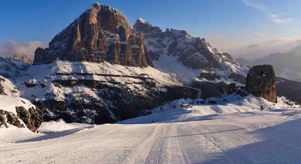 Skiing Hotel Restaurant Rifugio Refuge Fuciade, Passo San Pellegrino , Dolomites
