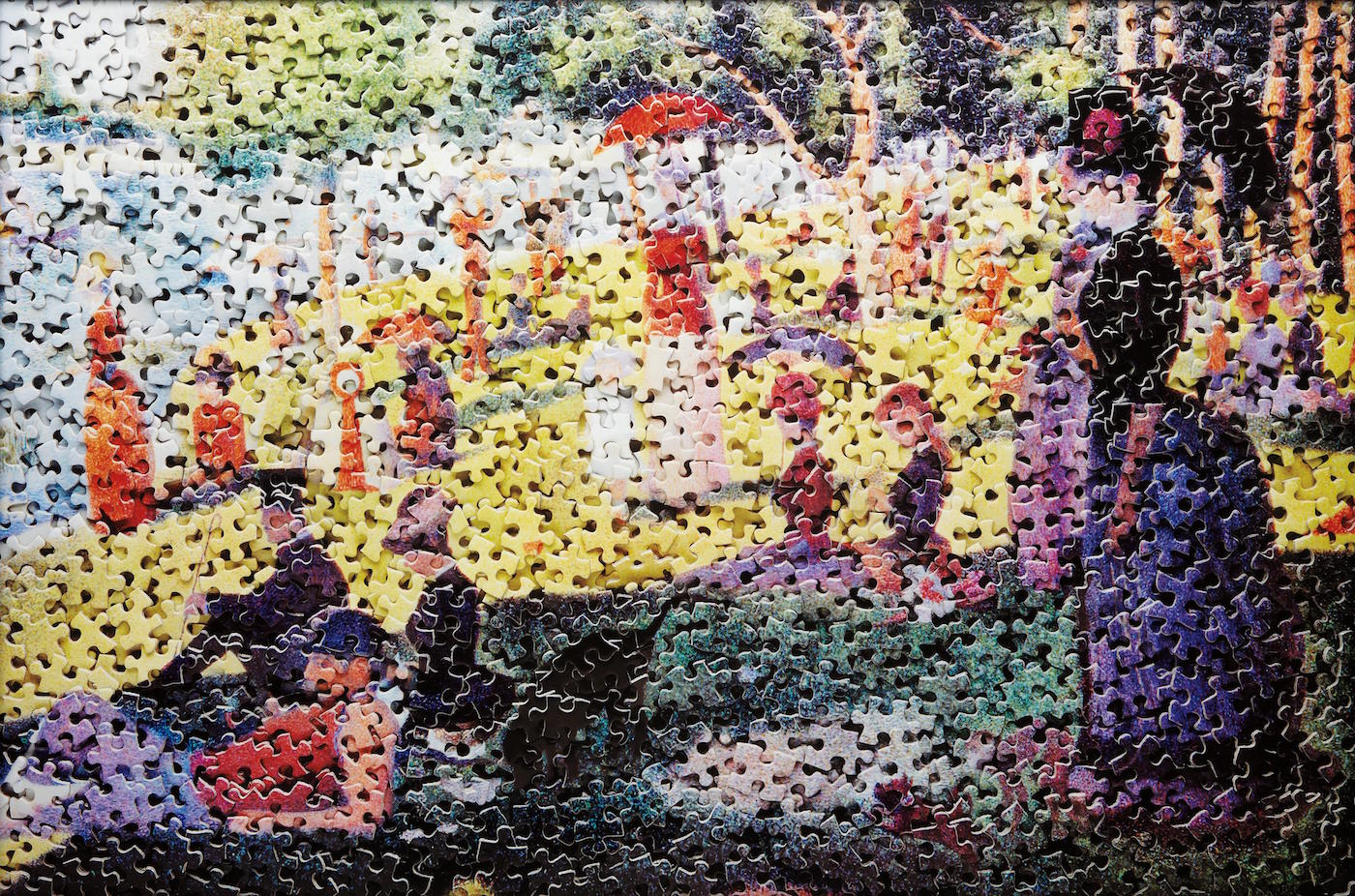 Vik Muniz Seurat at Ben Brown Fine Arts Photo London