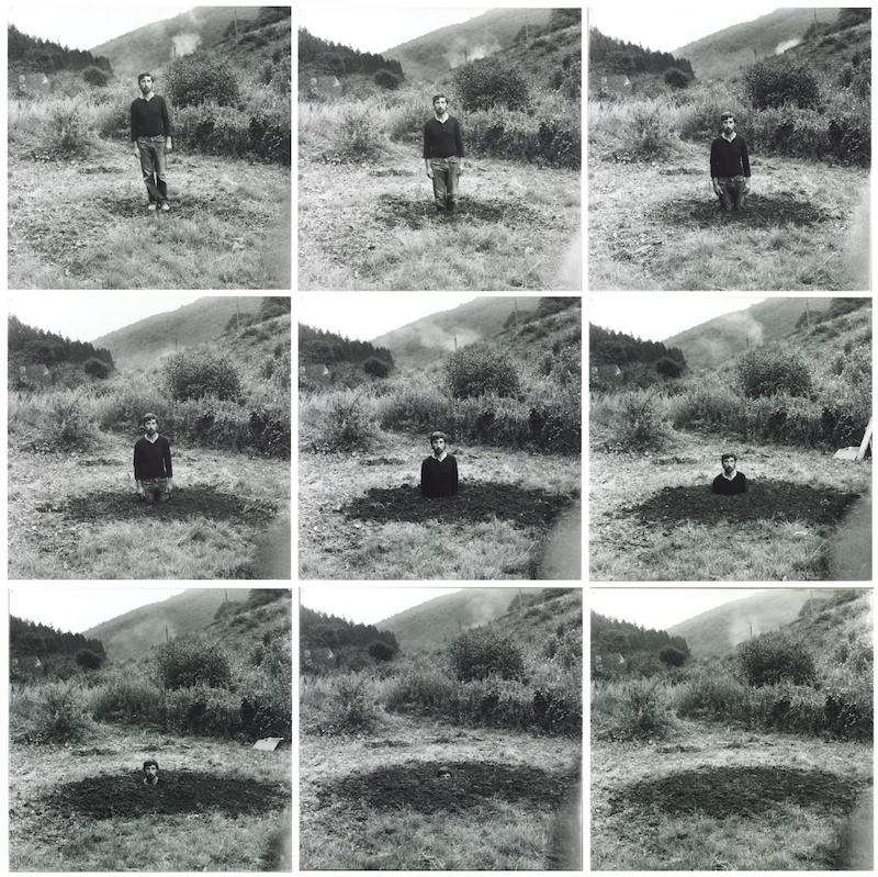 Self-Burial (Television Interference Project) 1969 by Keith Arnatt Conceptual Art in Britain 1964