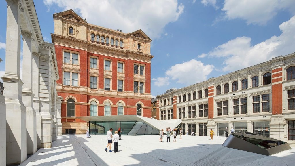 Sackler Courtyard and Sainsbury Gallery at the Victoria & Albert Museum London