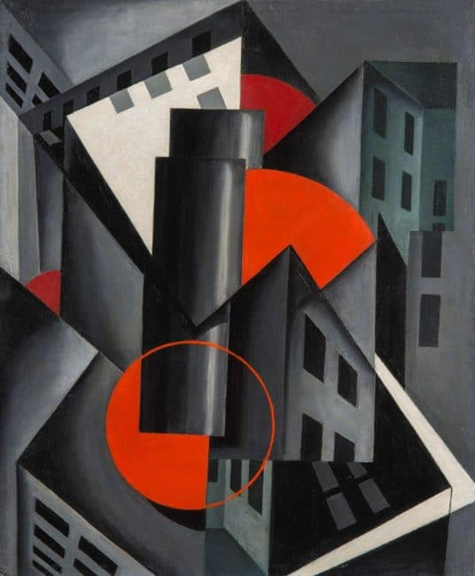 lozowick-red-circle-1924 Americas Cool Modernism Ashmolean Oxford