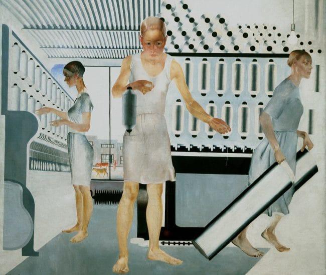 Alexander Deineka Textile workers Revolution Russian Art 1917 to 1932 Royal Academy London