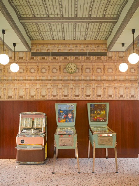 Wes Anderson Cafe at Fondazione Prada Milan Foundation Prada Art Exhibition