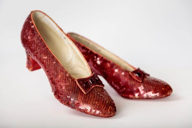 Dorothy's red shoes from Wizard of Oz