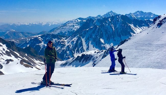 Grand Tourmalet  ski french pyrenees