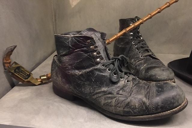 Charlie Chaplin boots Vevey