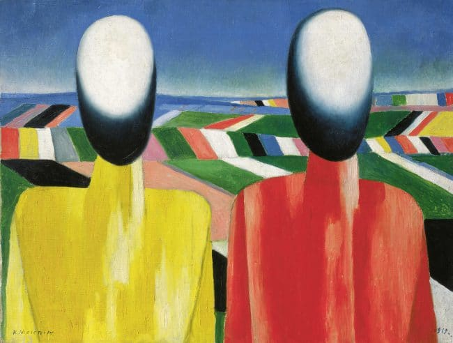Malevich_Peasants_Revolution Russian Art 1917 to 1932 Royal Academy London