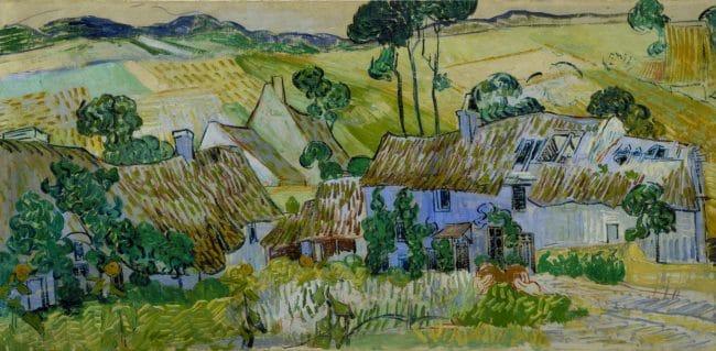 Vincent Van Gogh and Britain Tate Britain, London Farms near Auvers 1890 by Vincent van Gogh 1853-1890