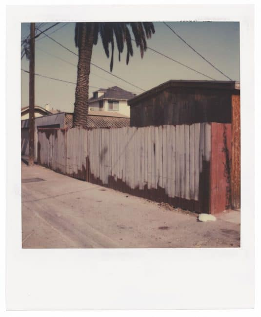 Polaroid Project Dennis Hopper, Back Alley 1987