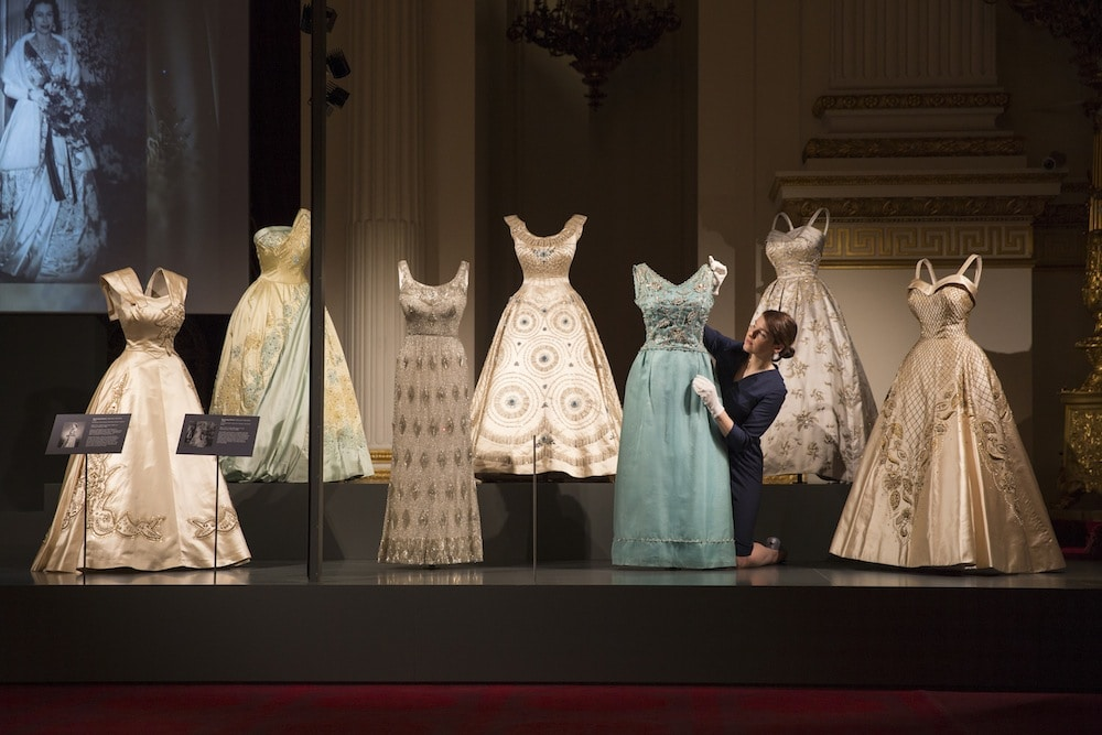 Fashioning a Reign: 90 Years of Style from The Queens Wardrobe on show at Buckingham Palace