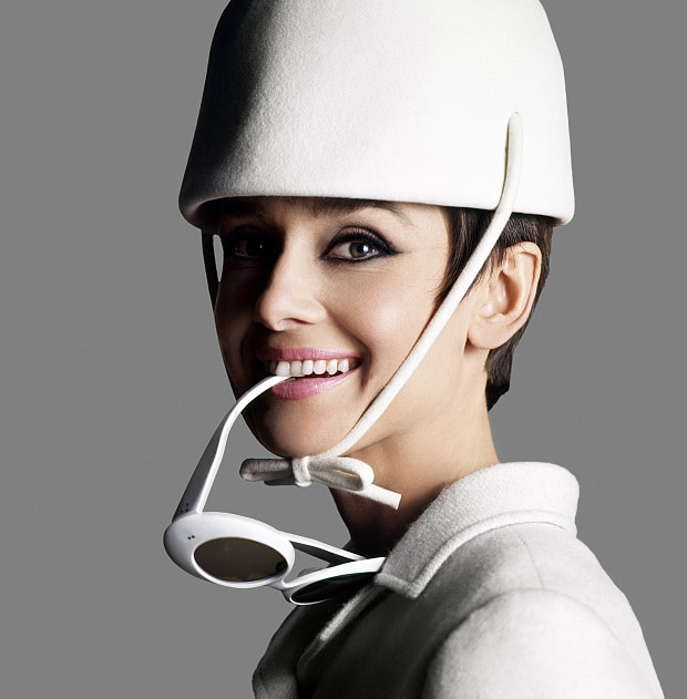 2 July – 18 October 2015, National Portrait Gallery, London *IMAGE TO PROMOTE EXHIBITION ONLY* ... Audrey Hepburn dressed in Givenchy with sunglasses by Oliver Goldsmith by Douglas Kirkland, 1966 © Iconic Images/Douglas Kirkland