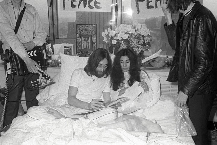 John Yoko Bed in Fairmont Queen Elizabeth