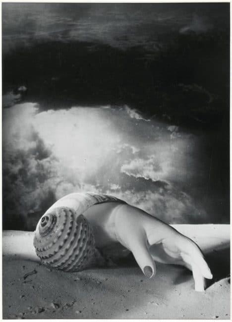 Dora Maar surrealist image hand with snail