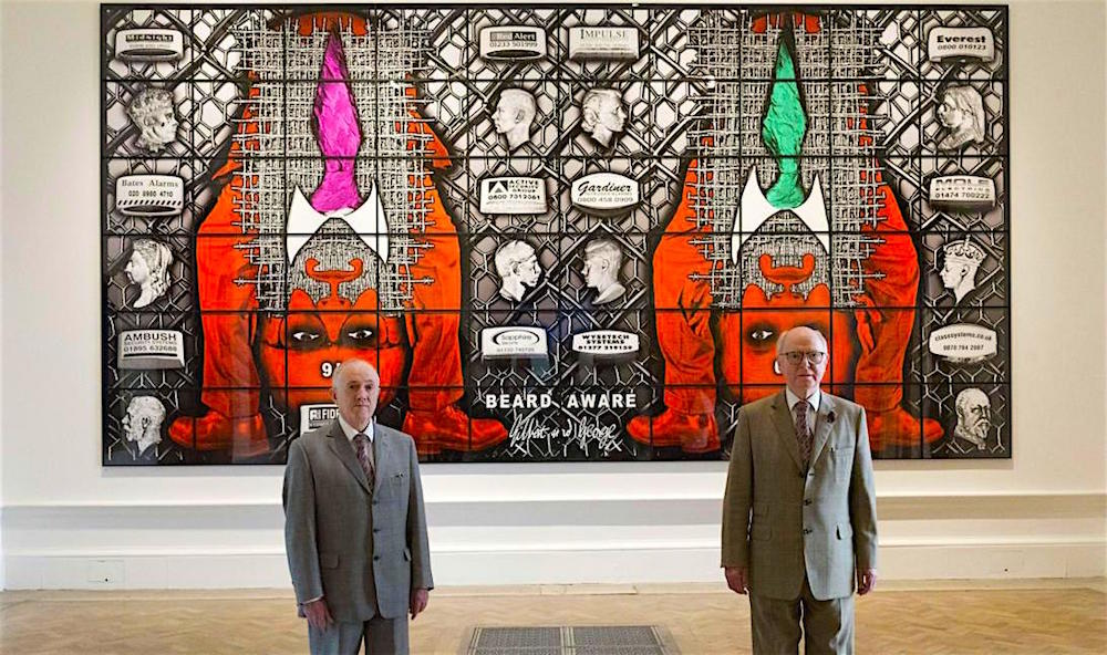 Gilbert & George Summer Exhibition Royal Academy reviewed at www.CELLOPHANELAND.com