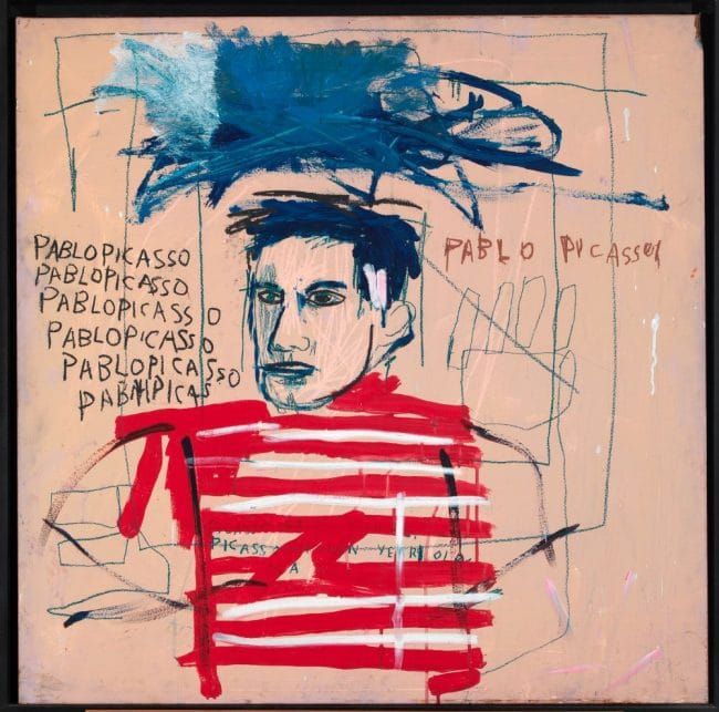 Untitled (Pablo Picasso) 1984 - Jean-Michel Basquiat Boom For Real Barbican Gallery