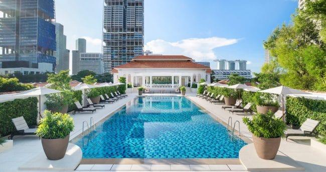 The Raffles Hotel swimming Pool
