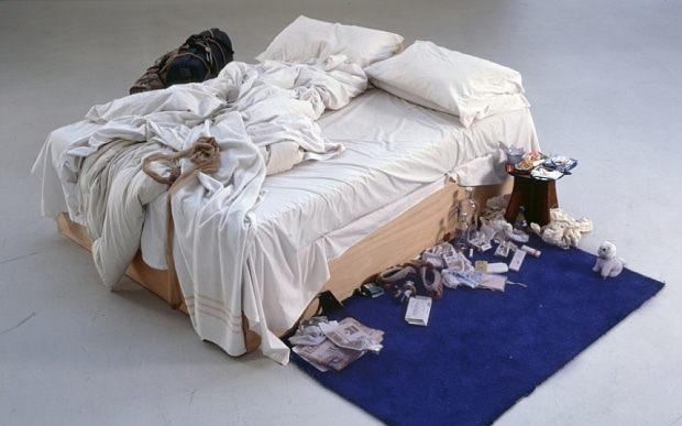 Tracey Emin Bed 100 Works of Art That Will Define Our Age Kelly Grovier www.cellophaneland.com