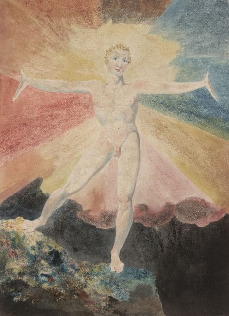 William Blake at Tate Britain. Exhibition review Albion Rose