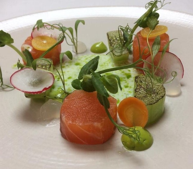 Norfolk gin cured salmon wine press maids head