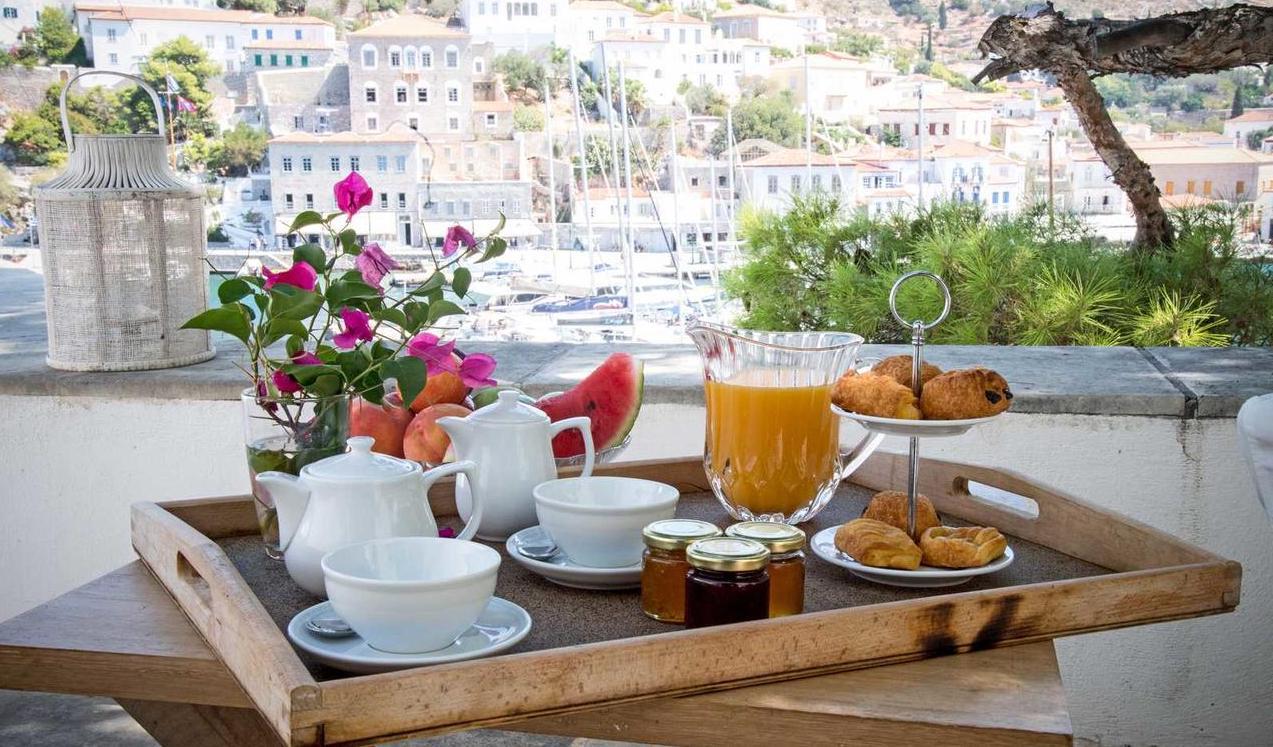 Hydrea Exclusive Hospitality Hotel Hydra Greece Breakfast